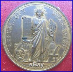 2 médailles Assemblée Nationale de 1879 + coffret, attribué député de Hérault
