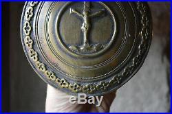 Ancien Baiser de Paix Osculatoire Bronze Epoque XIXe Siècle Diamètre 14cm