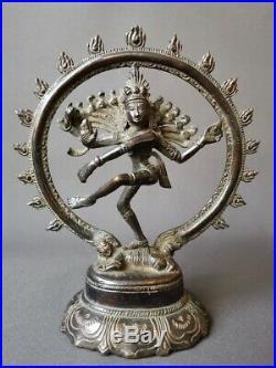 Ancien Shiva Natarja en bronze Inde du Sud XIXe siècle Bouddha