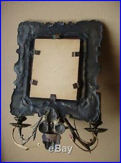 Ancien miroir à applique 3 branches fin XVIIIe S. / début XIXe siècle