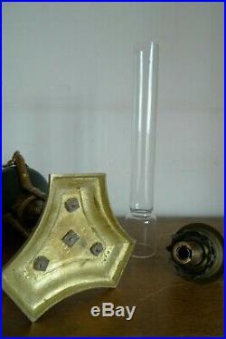 Ancienne Belle Lampe A Petrole Col De Signe Style Empire Fin XIX Siecle