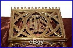 Beau pupitre d'autel porte missel en bronze doré XIXe Siècle