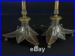 Belle Paire de chandeliers bronze XIX° siècle
