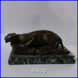 Bronze animalier lionne signé Marchand XIXè siecle