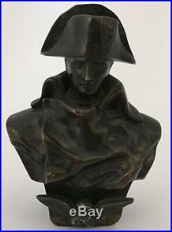 Buste En Bronze Napoléon Aigle Impérial Bonaparte Signé Et Daté XIX Éme Siécle