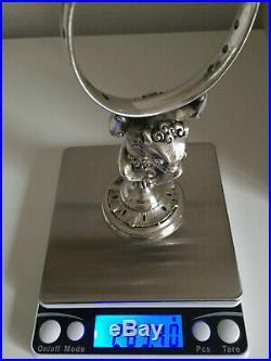 CHRISTOFLE porte-piques bronze argenté monstre XIXe siècle