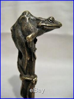 Cachet sceau en bronze signé Fremiet la grenouille époque XIX ème siècle