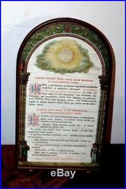 Canon d' autel enluminé en bronze doré XIXe Siècle