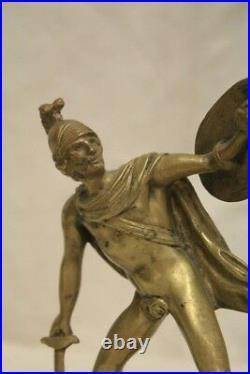 Centurion Romain Bronze D'Or, D'Époque XIX Siècle / Bronze Antique D'Or
