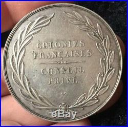 Charles X Médaille Conseil Privé des Colonies françaises ARGENT frappe d'époque