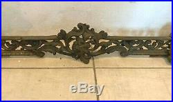 Chenet en bronze de style Louis XV Devant de cheminée XIX siècle