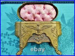 Coffret ancien Aigles et anges XIX siècle style Empire France Antique box Aigles