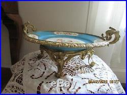 Coupe Porcelaine de Sèvres montée sur bronze XIX ème siècle