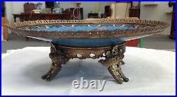 Coupe en bronze cloisonné et émaillé Chine XIX siècle
