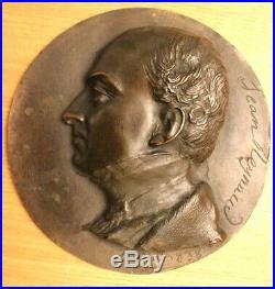 David d'Angers médaillon bronze Jean Reynaud signé 1838 2