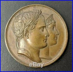 Empire Napoléon Ier Médaille Mariage à Paris avec Marie-Louise 1810