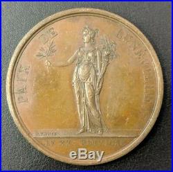 Empire Napoléon Ier Médaille Paix de Lunéville 1801