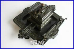 Encrier Bronze XIXe siècle objets de bureau (36064)