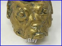 Encrier Grotesque Chien au Chapeau Fin du XIX ème Siècle Bronze Caricature