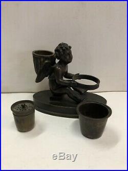 Encrier en bronze Amour epoque XIX Siècle
