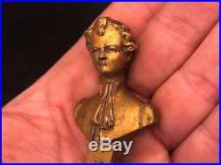 F. DEKEY PARIS Buste Bronze Jeune Homme XIX ème Siècle & Sceau à cacheter