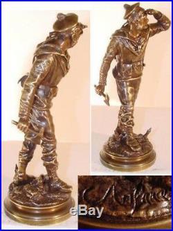 Figure de Bronze, Marine Soldat, le Bayard, c. Anfrie, France, XIX Siècle F743