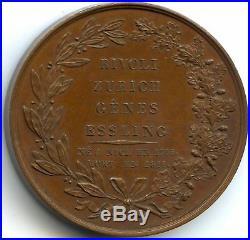 France Louis XVIII Médaille par Barre Mort de Masséna 1817 Bramsen 1789