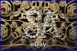 Grand Thabor en bronze doré chiffre SA en verroterie blanche XIXe Siècle