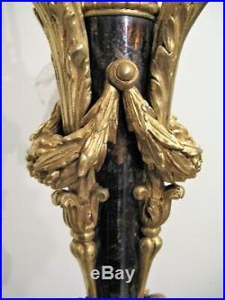 Grand lustre de style Louis XVI en bronze 4 lumières époque XIX siècle