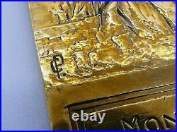 Grande & Lourde Medaille En Bronze Association Leopold Bellan Par Charles Pillet