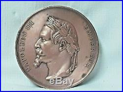 Grosse Médaille Consécration de L'Eglise St B. De La Chapelle Napoléon III -1861