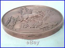 Grosse Médaille Hommage de la Ville de Paris à L'empereur Napoléon Ier 1854