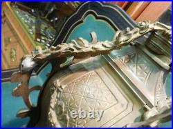 HORLOGE PENDULE EN BRONZE DECOR ANGELOT DU XIX ème SIECLE N17