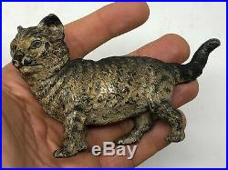 Important Bronze de Vienne Chaton Polychrome XIX ème Siècle Autriche Chat