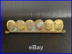 Joli Porte-Pipe de Style Gothique en Bronze. Epoque XIXe / début XXe siècle