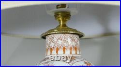 Lampe En Porcelaine Japonisante Monture Bronze, époque XIX ème Siècle