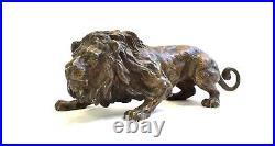 Lion Bronze de Vienne- Signé Cachet Bergman Fin XIXe/Début XXe Siècle