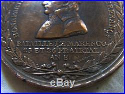 MED9343 MEDAILLE Bataille de MARENGO BONAPARTE 1° CONSUL
