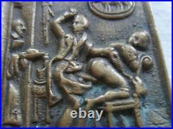 Med9779 Medaille Plaque Erotique En Bronze Xix°