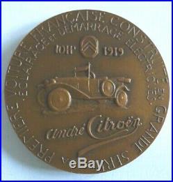 Medaille André Citroen Lancement De La 10 HP En 1919 Par Adrien Bourroux