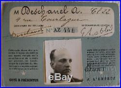 Médaille Exposition Internationale de Paris 1937, Jury. DESCHANEL, Box carte
