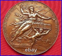 Médaille Exposition Universelle Internationale, Paris 1878, en bronze, superbe