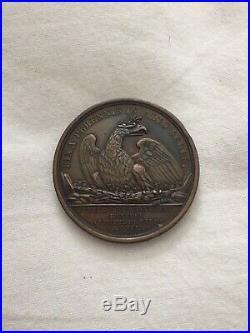 Médaille Fête du couronnement hotel de ville NAPOLEON Ier frappe d'époque