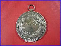 Medaille Jeton Bronze Concours Pompes Pompier Clichy 1882