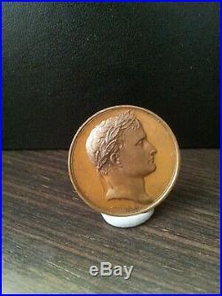 Médaille Napoléon Bonaparte par Andrieu AUSPICE NEAPOLEONE GALLIA RENOVATA
