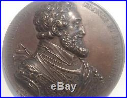 Médaille XIXe Henri IIII Roi de France et de Navarre signée De Puymaurin 1840