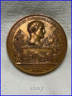 Médaille bronze Napoléon 1er An VIII prairial Marengo Consul