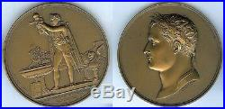 Médaille de table NAPOLEON 1er baptême roi de ROME par ANDRIEU d=68mm bronze