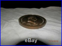Medaille de table en bronze Napoleon 1er 1816