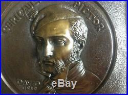 Medaillon Bronze Gericault Par David D'angers